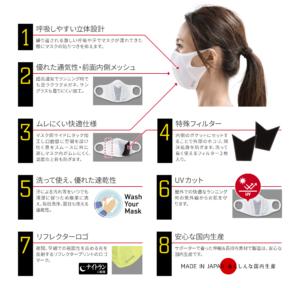 ランナーマスク8つの特徴